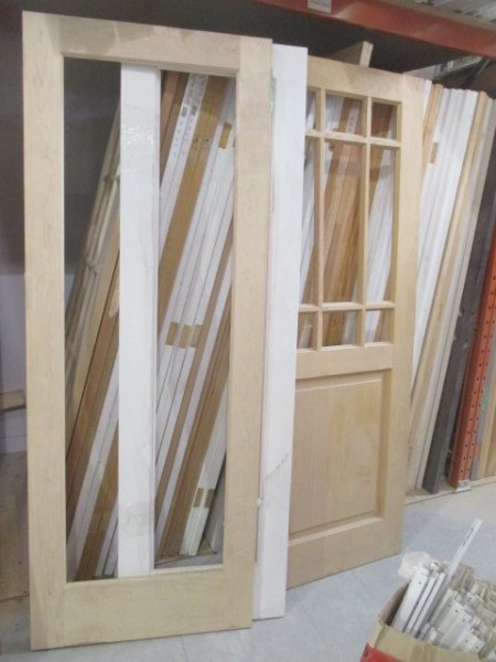 Mcdougall auctions for French doors no glass
